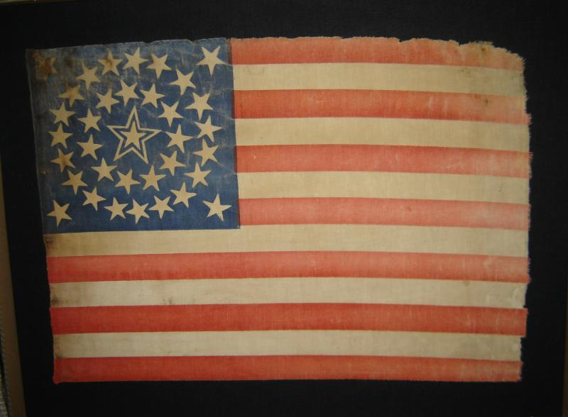 Rare 1863 35-star flag admitting West Virginia to the union.
