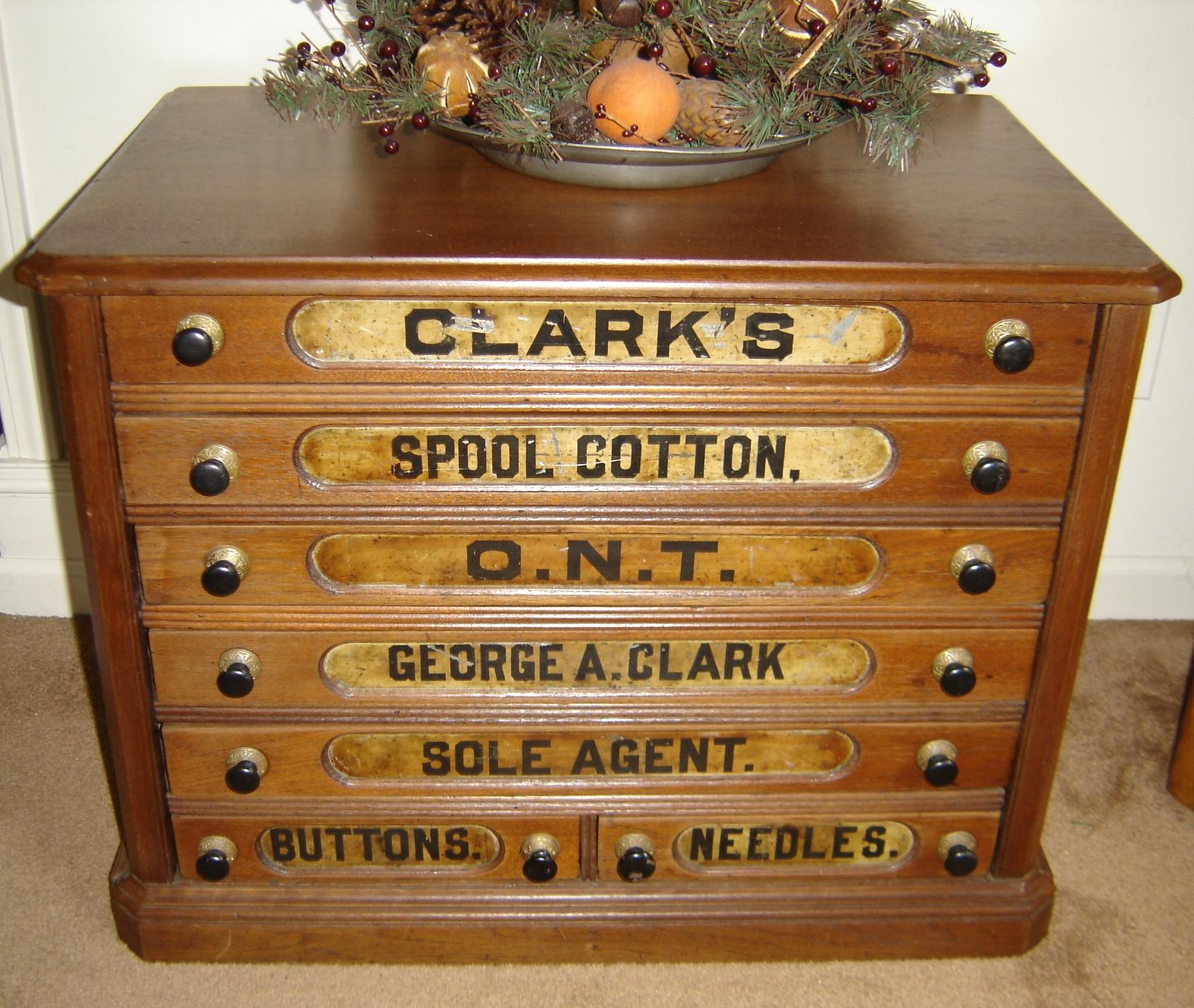 Iron Horse Antiques - Spool & Ribbon Cabinets,Part 1